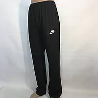 Мужские штаны спортивные в стиле Nike прямые черные р. 46,48,50,52,54