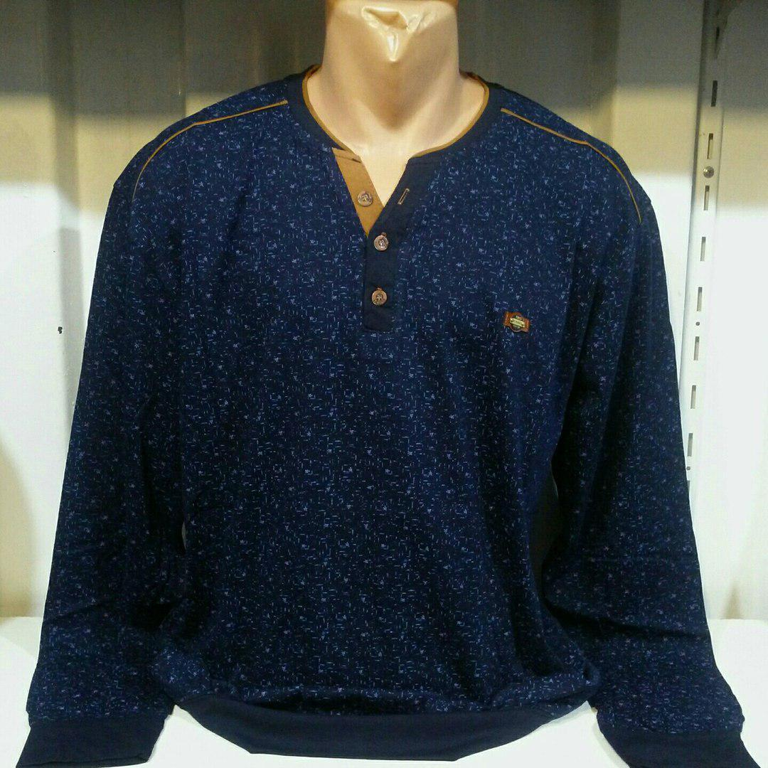 bacb9960124a5c1 Мужская рубашка большого размера темно синяя с пуговицами: продажа ...