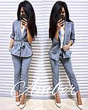 Женский стильный костюм в полоску: жакет и брюки (3 цвета), фото 2