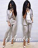 Женский стильный костюм в полоску: жакет и брюки (3 цвета), фото 4