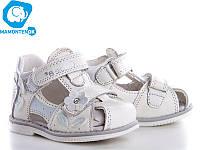 Кожаные сандалики Clibee F217 белые, р19-24