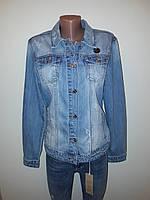 Джинсовая курточка светлая большие размеры 1097, фото 1