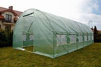 Теплиця парник з вікнами 10м² ( 400х250х200 ) Садовий тунель з вікнами для городу , виробник Польша!
