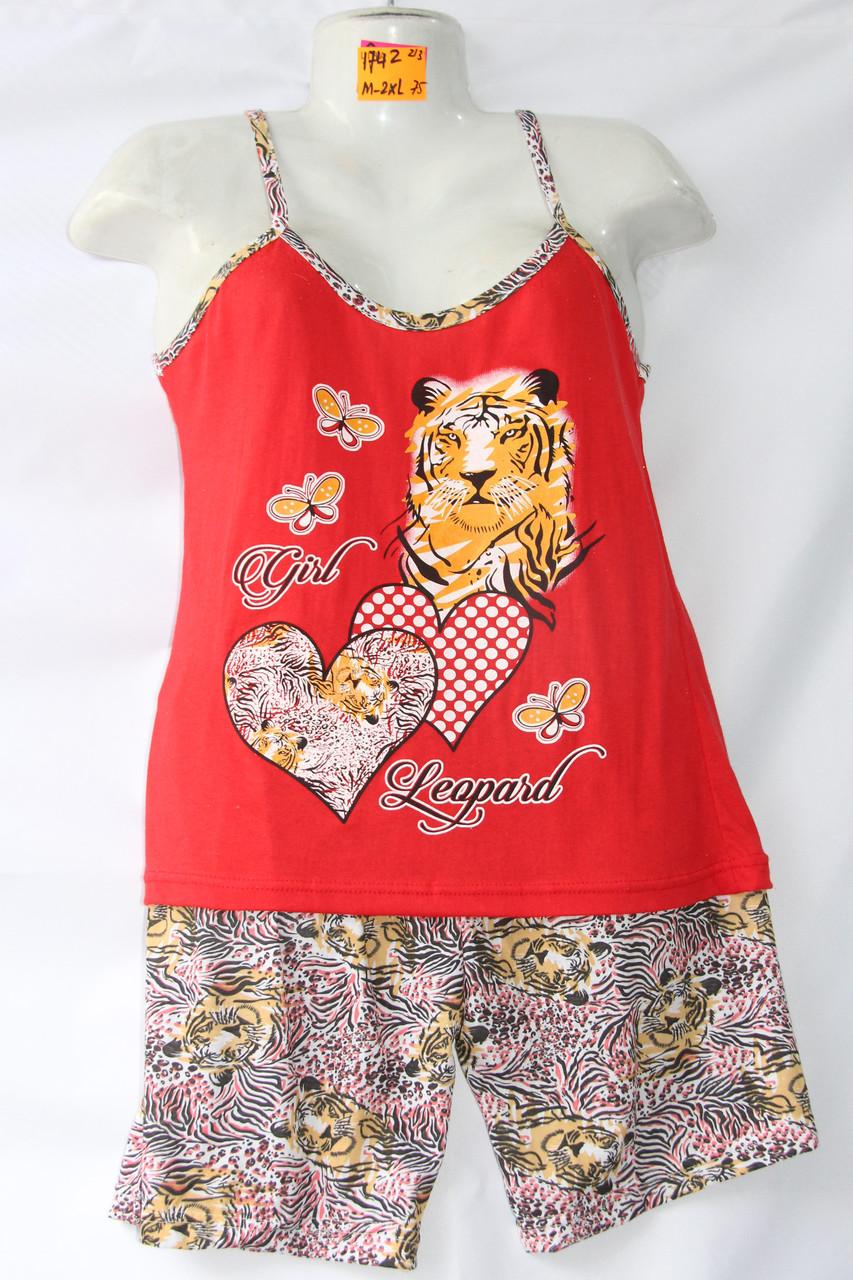 Женская котоновая пижама (р-ры 42-50) оптом со склада в Одессе.