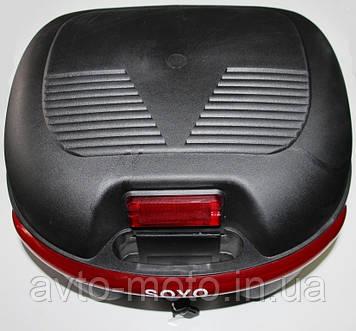 Кофра мопеда Альфа с шлемом (38,5*34*26 см)
