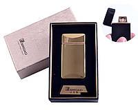 """USB зажигалка в подарочной упаковке """"Broad"""" (Двухсторонняя спираль накаливания) Gold"""
