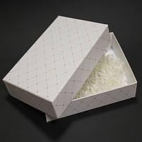 Коробка крышка дно переплет белая