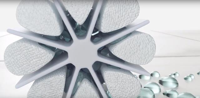 Структура микроволокна Smart, позволяет впитывать много воды и всасывать грязь внутрь волокна