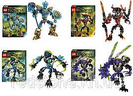Конструктор KZC Bionicle 613 (LEGO BIONICLE) 2вида (3 (613-3 Монстр Ураган) и 4 (613-4 Монстр Землетрясение)