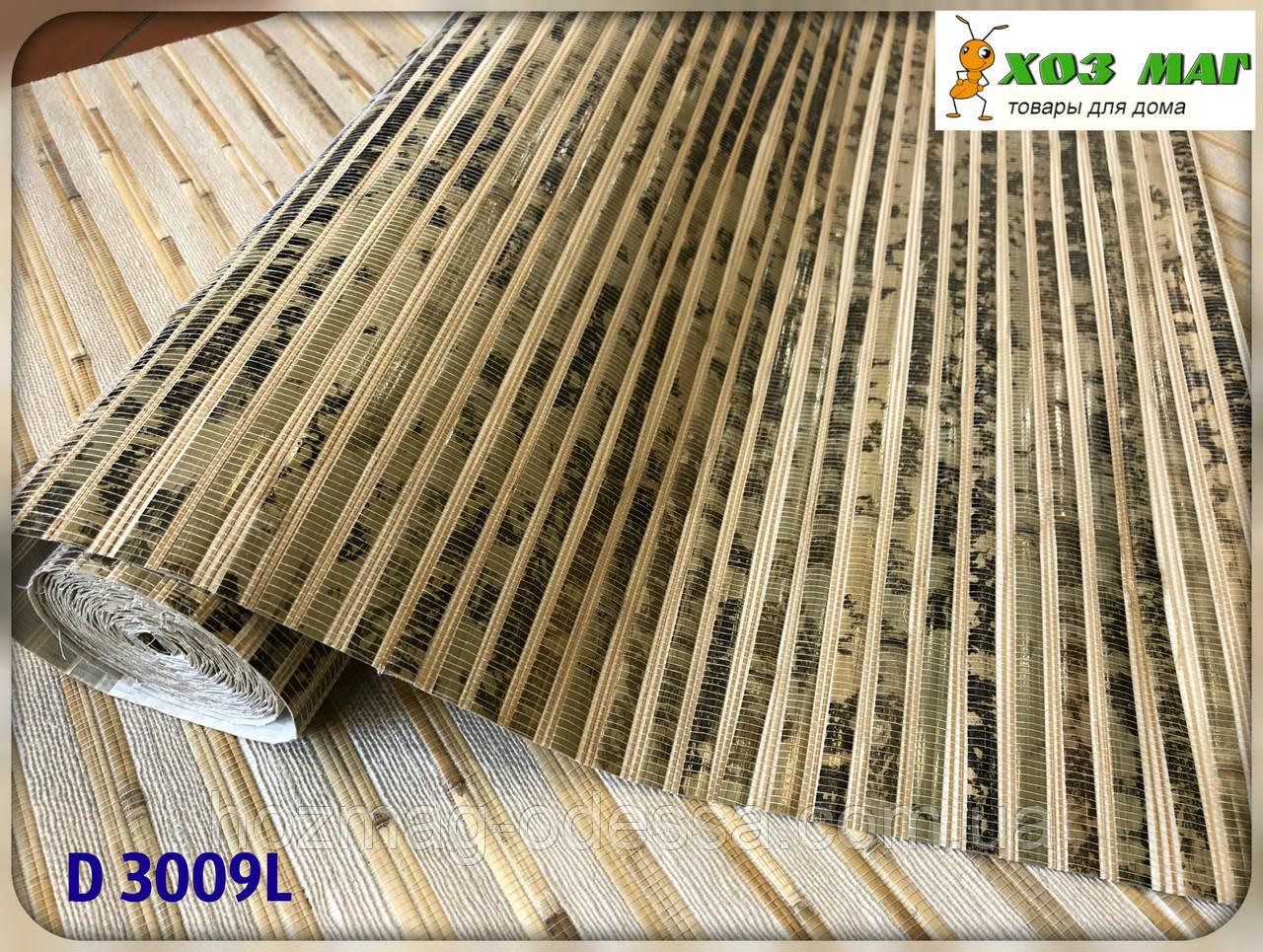 Натуральные обои, бамбук, черепаха зеленая,D 3009L