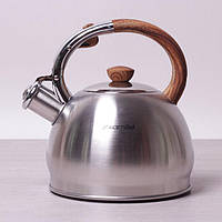 Чайник Kamille 2л из нержавеющей стали со свистком, фото 1