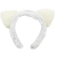 Ушки кошки на обруче белые