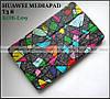 Витражное стекло чехол книжка ультратонкий Huawei Mediapad T3 8 KOB-L09, модель TFC + эко PU