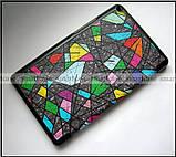 Витражное стекло чехол книжка ультратонкий Huawei Mediapad T3 8 KOB-L09, модель TFC + эко PU, фото 6