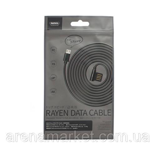 Кабель REMAX Rayen Data Cable Micro RC-075m – черный