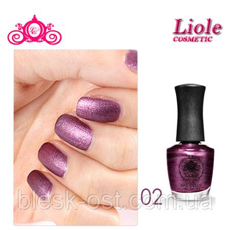Лак для ногтей Lioele Matte Nail Color перламутровый глубоко фиолетовый, фото 2