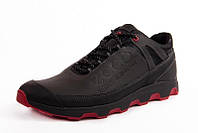 Кроссовки мужские качественные кожаные Ecco Natural Motion Black