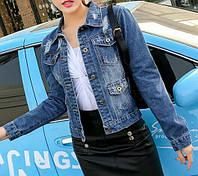 Стильный джинсовый пиджак  (199)