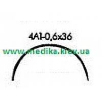 4А1 0,6 х 36 Игла хирургическая изогнутая 4/8 окружности .