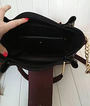 Элегантная женская сумка с металлической фурнитурой, фото 3