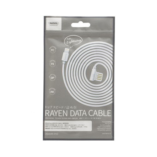 Кабель REMAX Rayen Data Cable Lightning RC-075i – білий