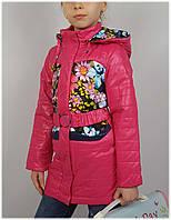 Плащ для девочки  HL 1501 весна-осень, размеры на рост от 116 до 140 возраст от 5 до 10 лет, фото 1