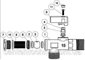 Кран угловой усиленный FADO NEW 1/2''x3/4'', фото 2