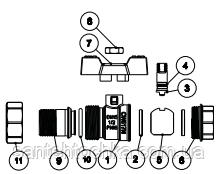 Кран кульовий зі згоном FADO Modern PN30 DN20 3/4'', фото 2