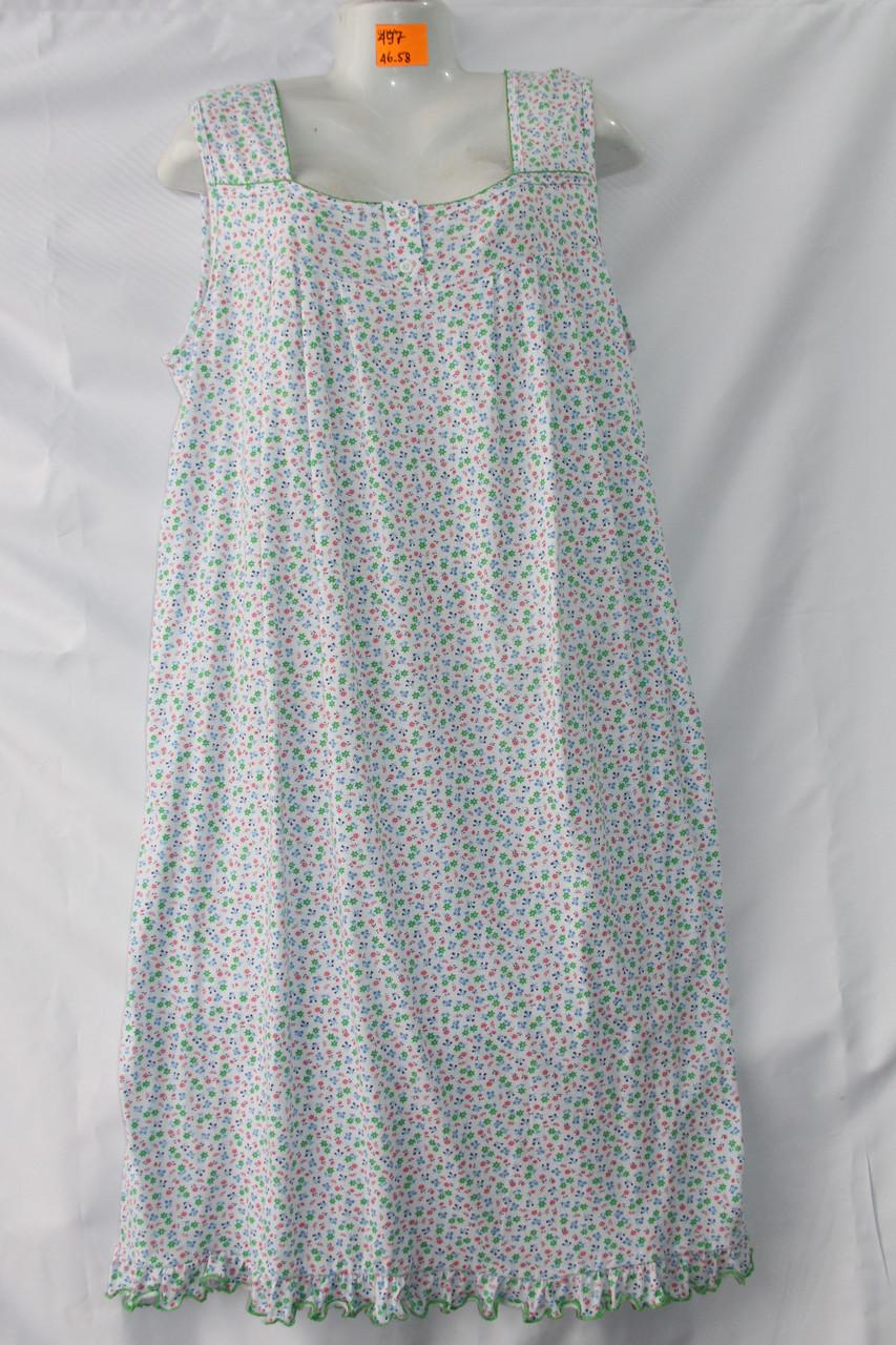 Женская котоновая ночная рубашка (р-ры 46-58) оптом со склада в Одессе.