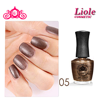 Лак для ногтей Lioele Matte Nail Color перламутровый коричневый