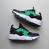 11657e0a Nike Air Huarache Ultra Black Green | кроссовки мужские; зеленые; летние