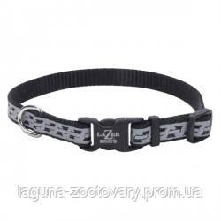 Coastal Lazer свето-отражающий ошейник для собак, 1,6смХ20-30см, черное звено