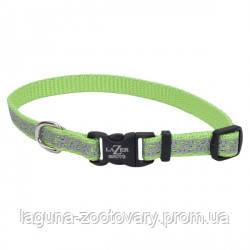Coastal Lazer свето-отражающий ошейник для собак, 1,6смХ20-30см, лайм