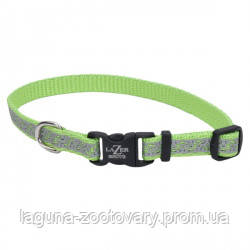 Coastal Lazer свето-отражающий ошейник для собак, 1,6смХ20-30см, лайм, фото 2