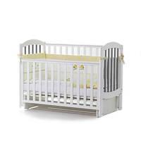 Детская кроватка Верес соня ЛД10 120*60 маятник без ящика бело/серая