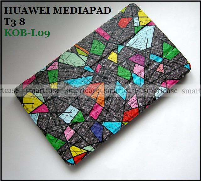 купить витражное стекло чехол книжка huawei t3 8