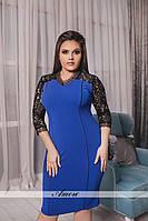 Женское короткое платье большие размеры, фото 1