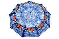 Зонт джинсовый роза