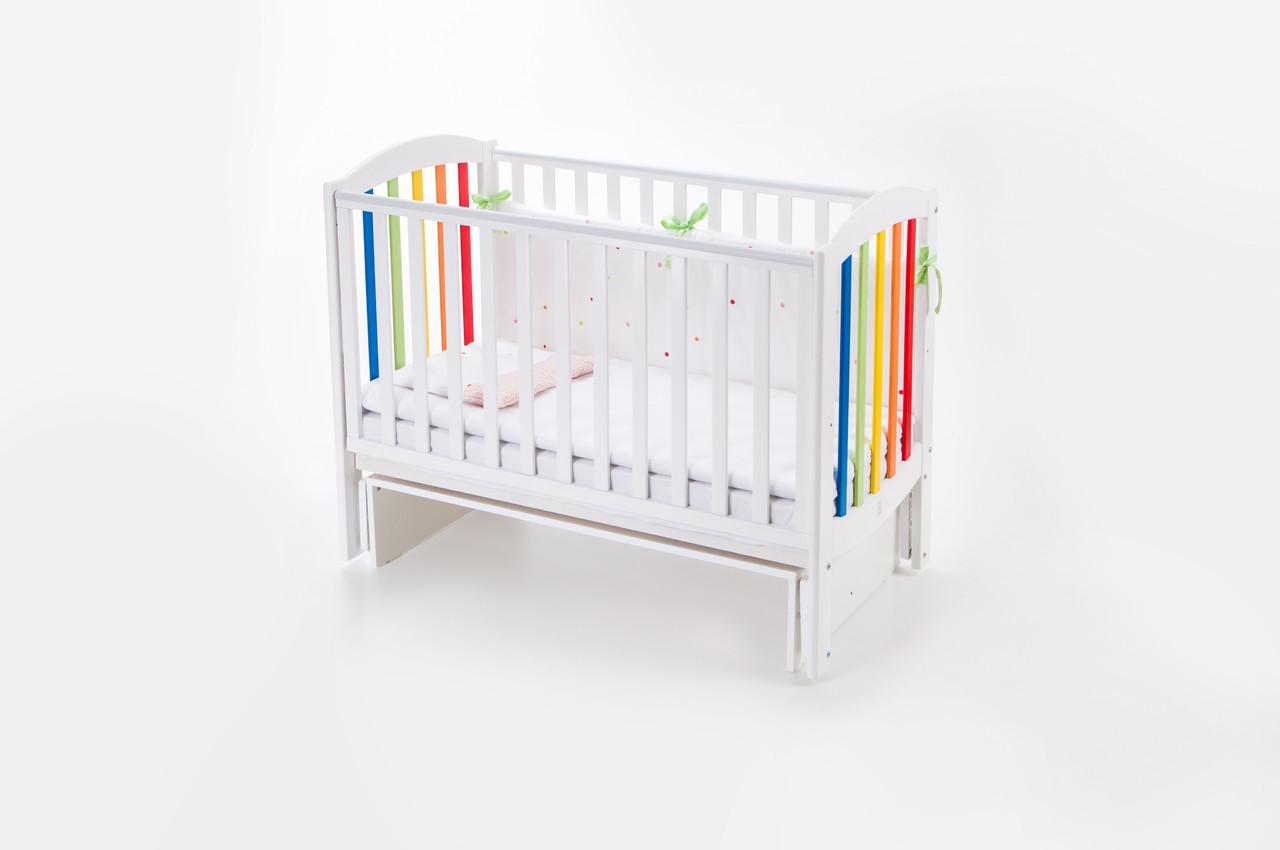 Детская кроватка Верес соня ЛД10 120*60 маятник без ящика радуга