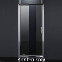 Дверь в нишу Eger распашная 90х185см хром, прозрачная 599-150-90 (код 036578)