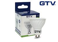 Светодиодная лампа GTV, 6W, 6400K, холодное свечение, MR16, цоколь - GU10, 3 года гарантии!!! ПОЛЬША!!!