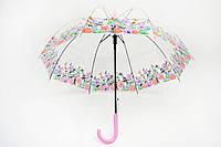 Зонт прозрачный ободок розовый