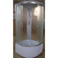 Гидробокс стеклянный Elephant EKO-Grey на глубоком поддоне 90х90х215см TM-983(049827)