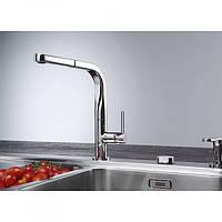 Дизайнерский смеситель для кухни Franke Sinos 115.0260.562 с выносным шлангом, хром