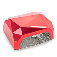 УФ CCFL+LED гибридная лампа для ногтей 36W Diamond(красная), фото 1