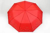 Зонт звезды серебряные красный
