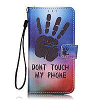 "Чехол Книжка для Samsung j3 j320 ""Do Not Touch My Phone"""