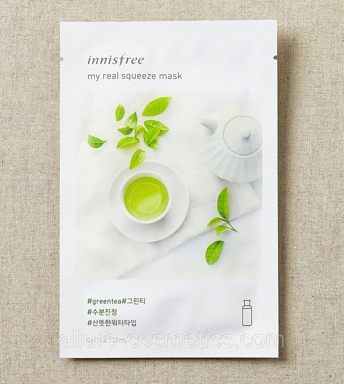 My real squeeze mask зеленый чай