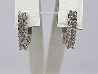 Серебряные серьги с фианитами. Артикул 309400, фото 1