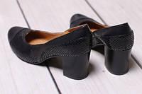 Модельные черные кожаные туфли